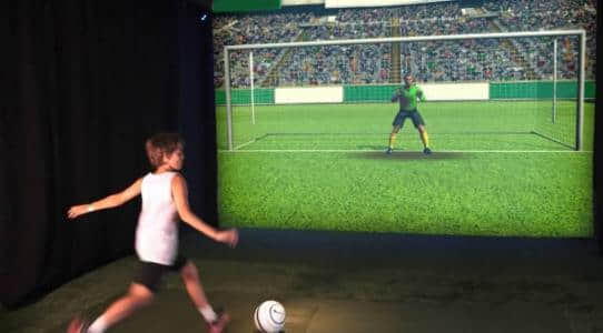Soccer Interactive game for indoor playground