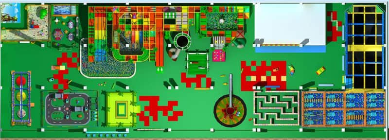 children indoor playground plan top view