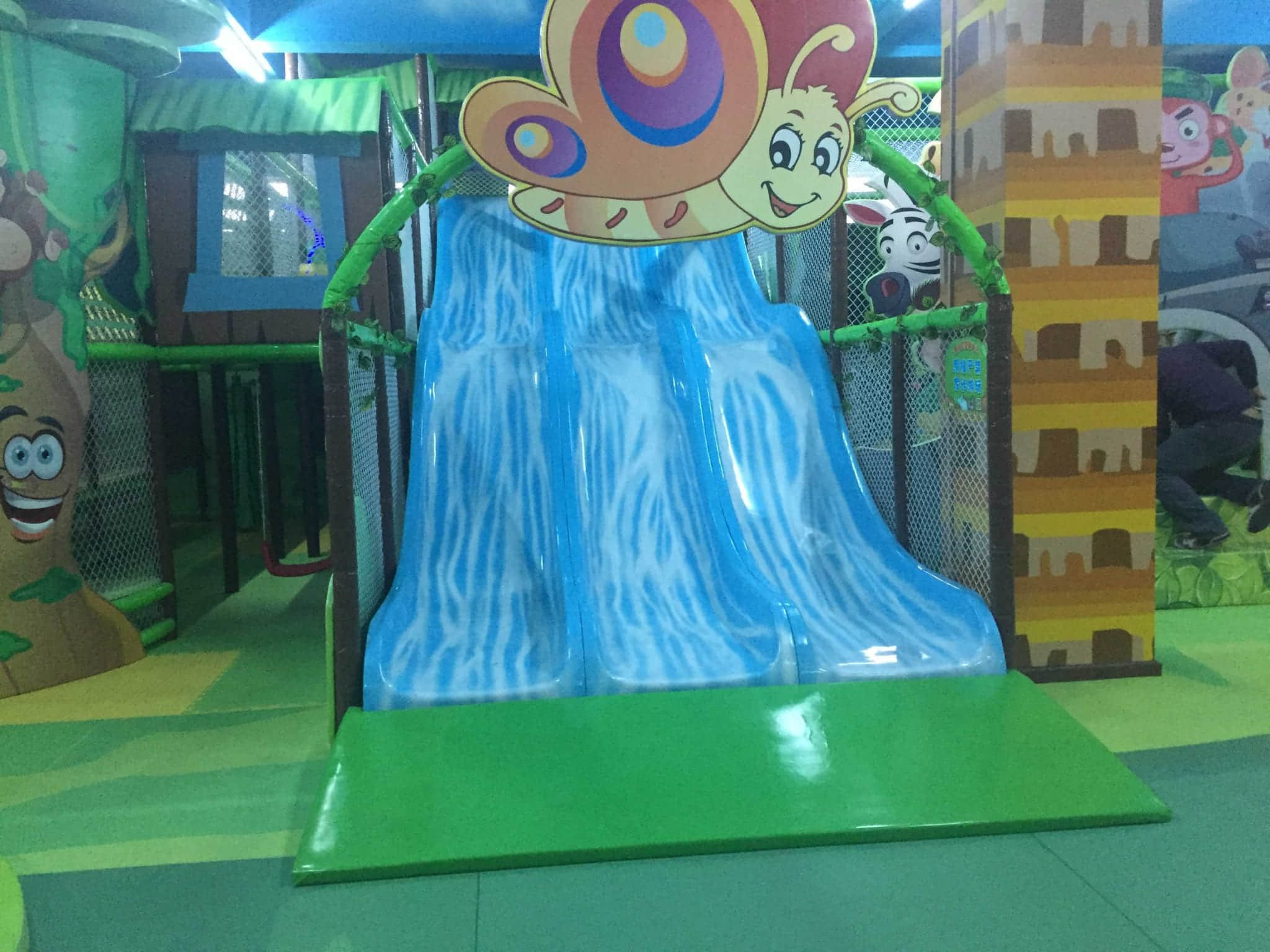 the slide of indoor playground