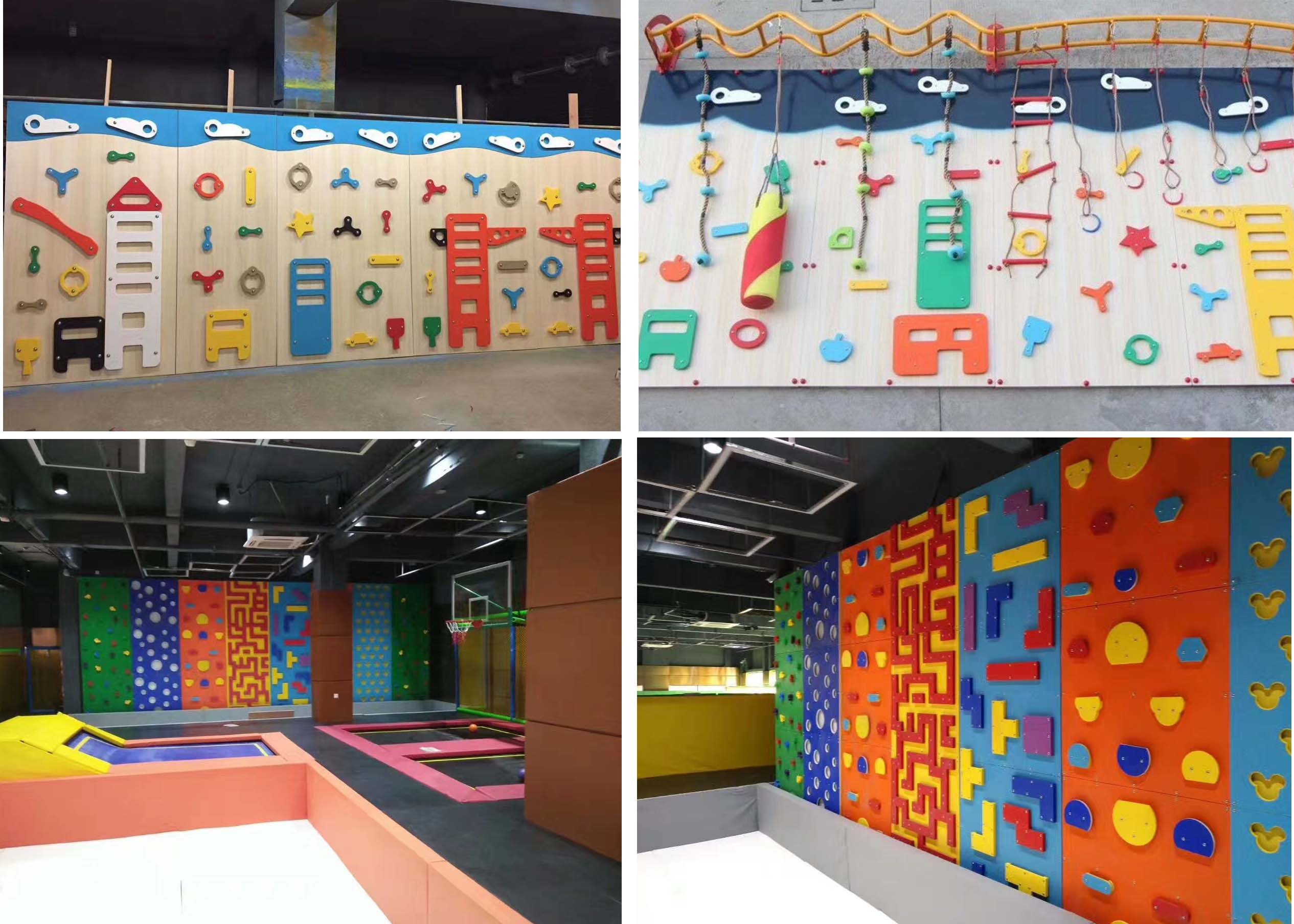 Climbing wall the latest indoor playground equipment