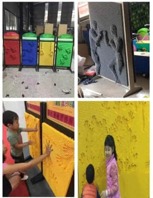 Pinscreen stand or pin art the latest indoor playground equipment