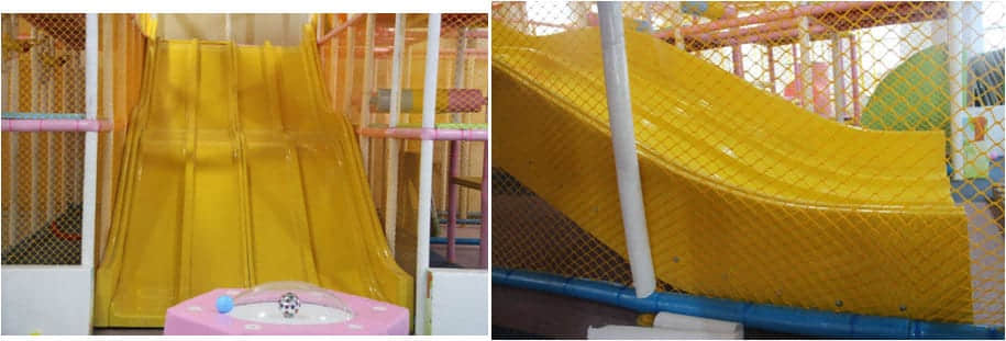 indoor playground fiberglass slide