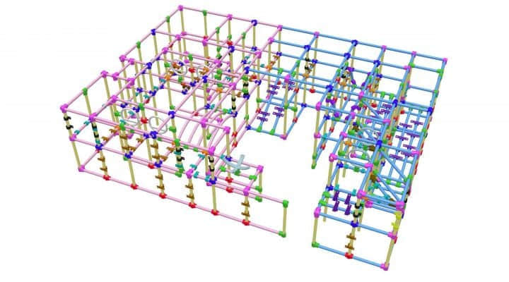 indoor playground iron pipes maps design