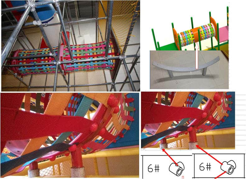net bridge for indoor playground