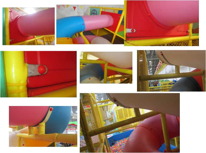 spiral slide for indoor soft play