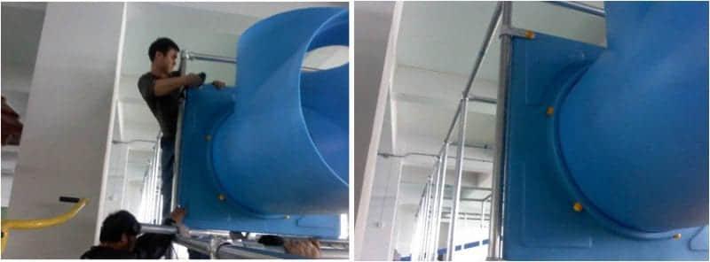tube slide or tunnel slide for indoor playground