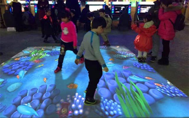 interactive floor projection games