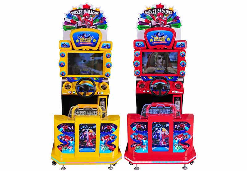 Super arcade game motorcycle with video